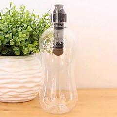 Kesällä muovi maastojuoksussa pullo 550ml kanssa aktiivihiilisuodatin
