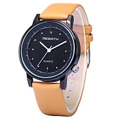 REBIRTH Мужской Модные часы Наручные часы / Кварцевый PU Группа Повседневная Черный Белый