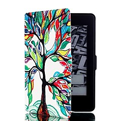 Colorful Tree Pattern Leather Full Body Case with Stand and Card Slot for Amazon Kindle Paperwhite / Kindle Paperwhite 2