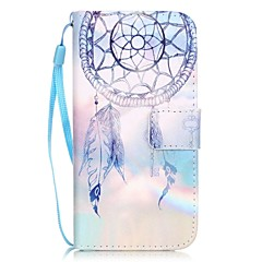 For iPhone 7 etui iPhone 7 Plus etui iPhone 6 etui Kortholder Mønster Etui Heldækkende Etui Drømmefanger Hårdt Kunstlæder for AppleiPhone