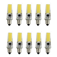Dimmable E11 Mini Silica Gel Spot Light 2508 COB SMD 350Lm AC220V - 240V Warm White/Cool White (10 Pieces)