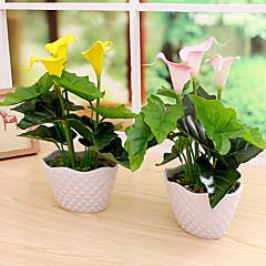 Set of 1 PCS 1 haara PU Kalla Pöytäkukka Keinotekoinen Flowers 13.7