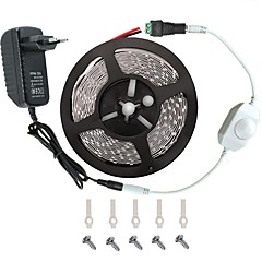 LED Light Strip Kit -3528 -300 LEDs   Includes 3A Power Supply (36 Watt) and Dimmer - LED Tape Light Connector