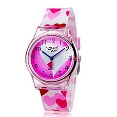 Gyerekek Karóra Kvarc Színes Plastic Zenekar Heart Shape Édesség Menő Alkalmi Pink Rózsaszín