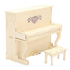 Jigsaw Puzzles 3D Puzzles / Wooden Puzzles Building Blocks DIY Toys Piano Wood Beige Model & Building Toy