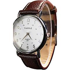 YAZOLE Dámské Pro páry Náramkové hodinky Křemenný / PU Kapela Retro Cool Běžné nošení Černá Bílá Červená Hnědá Bílá Černá Hnědá Červená