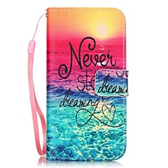 Sea Pattern Material PU Card Holder Leather for  iPhone 7 7 Plus 6s 6 Plus SE 5s 5 5C 4S