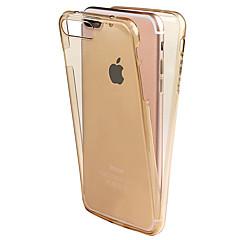 För Annat fodral Heltäckande fodral Enfärgat Mjukt TPU för Apple iPhone 7 Plus iPhone 7 iPhone 6s Plus/6 Plus iPhone 6s/6