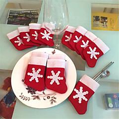 12 db / set mini karácsonyi harisnya étkészlet fedél karácsonyfa díszek karácsonyi díszek fesztivál party