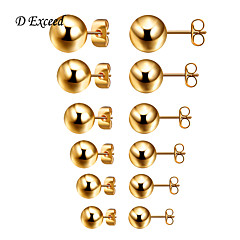 D Exceed New Style Stud Earrings Gold/Silver Studs Earrings for Women and Men