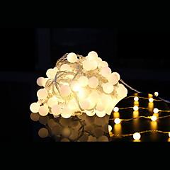 100-ledede 10m vandtæt stik udendørs jul ferie dekoration lys førte streng lys (220v)