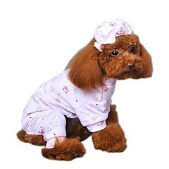 Katte Hunde Jumpsuits Pyjamas Hundetøj Vinter Forår/Vinter Tegneserier Sød Afslappet/Hverdag Gul Blå Lys pink