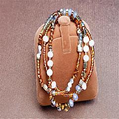 Bracelet Wrap Bracelet Glass Geometric Fashion Party / Daily / Casual Jewelry Gift Black1pc