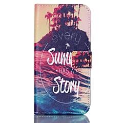 Varten Samsung Galaxy kotelo Lomapkko / Korttikotelo / Tuella Etui Kokonaan peittävä Etui Maisema Kova Tekonahka SamsungS6 edge / S6 / S5