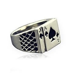 남성용 문자 반지 패션 빈티지 개인 의상 보석 합금 보석류 제품 일상 캐쥬얼 크리스마스 선물