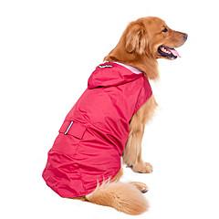 Perros Impermeable Rojo / Azul Oscuro Ropa para Perro Invierno / Verano / Primavera/Otoño Un ColorA Prueba de Agua / Vacaciones /