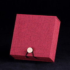 Caixas de Jóias Papel Vermelho Marrom