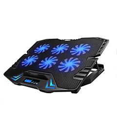 réglable écran led de contrôle intelligent tapis de refroidissement pour ordinateur portable avec 6 ventilateurs
