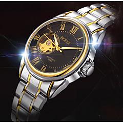 Heren Dress horloge / mechanische horloges Automatisch opwindmechanisme Kalender / Waterbestendig Roestvrij staal BandVrijetijdsschoenen