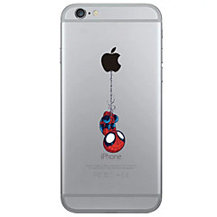 For iPhone 6 etui iPhone 6 Plus etui Transparent Etui Bagcover Etui Leger med Apple-logo Blødt TPU foriPhone 7 Plus iPhone 7 iPhone 6s
