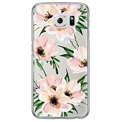 Watercolor Flower Pattern Soft Ultra-thin TPU Back Cover For Samsung GalaxyS7 edge/S7/S6 edge/S6 edge plus/S6/S5/S4