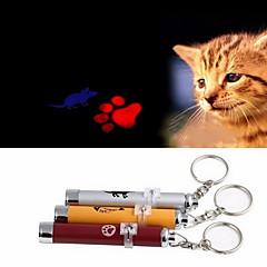 חתולים / כלבים צעצועים לחיות מחמד צעצועי לייזר טביעת רגל / עכבר Red / כחול / ורוד / צהוב / Silver אלומניום