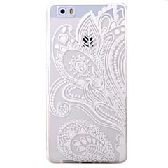 Til huawei p9 p8 lite case cover halve blomster mønster tpu materiale telefon shell til y5c y6 y625 y635 5x 4x g8