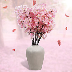 1 haara Polyesteri Sakura Pöytäkukka Keinotekoinen Flowers 110