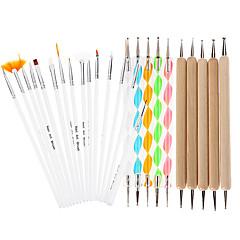 25pcs 자체 디자인 드로잉 펜 못을 찍는 DIY 네일 아트 디자인 그림은 매니큐어 번들 도구 키트 세트 브러쉬