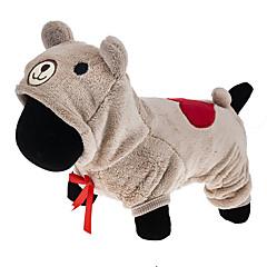 Γάτες / Σκυλιά Στολές / Φούτερ με Κουκούλα / Φόρμες Καφέ / Γκρίζο Ρούχα για σκύλους Χειμώνας / Άνοιξη/Χειμώνας Κινούμενα σχέδιαCute /
