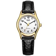Женские Модные часы Защита от влаги Кварцевый Кожа Группа Винтаж Черный