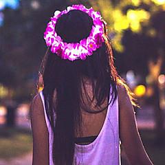 rózsaszín virág vezetett korona / virág headbandlight fel virág halo / fejpánt halloween coustume karácsonyi ajándék
