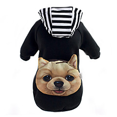 Psy Bluzy z kapturem Plecak Ubrania dla psów Zima Wiosna/jesień Wzór zwierzęcy Urocze Black Czerwony