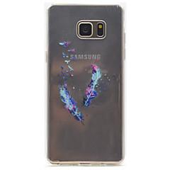 fjer mønster høj permeabilitet TPU materiale telefon tilfældet for Samsung Galaxy Note 5