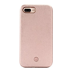 Mert iPhone 7 tok iPhone 6 tok iPhone 5 tok tokok LED Hátlap Case Egyszínű Kemény PC mert AppleiPhone 7 Plus iPhone 7 iPhone 6s Plus