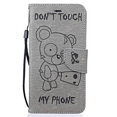 Na Etui iPhone 7 / Etui iPhone 6 / Etui iPhone 5 Portfel / Etui na karty / Z podpórką / Wytłaczany wzór / Wzór Kılıf Futerał Kılıf