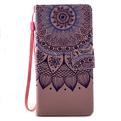 For Xperia X XA XP XZ Case Cover Lotus Pattern Painting PU Leather Material Card Stent