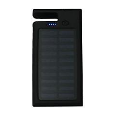 12000mAhmakt bank eksternt batteri Solenergilading / Flere utganger / Lommelykt / Inkluderer stativ 12000Output 1:5V 1000mA Output 2:5V