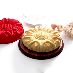de silicona molde de la torta de girasol -may XV