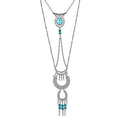 Halsband Icke sten Kedje Halsband Smycken Dagligen / Casual Mode Legering Gyllene / Silver 1st Present
