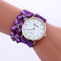 Женские Модные часы Часы-браслет Кварцевый Стразы PU Группа Блестящие Цветы Повседневная Элегантные часыЧерный Белый Синий Красный