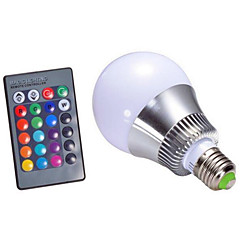 5W AC85-265V E14 / GU10 / E26/E27 / B22 LED Smart Bulbs A60(A19) 1 High Power LED 500 lm RGB Dimmable / Remote-Controlled / Decorative V 1 pcs
