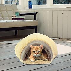 Gato Camas Mascotas Cojín y Almohadas Suave Marrón