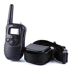 Dog Training Collar Dog Bark Collar Anti Bark 300M Remote Control Shock/Vibration Electronic LCD Display Black
