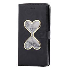 για το Samsung Galaxy S7 περίπτωση άκρη S7 ρέει κινούμενη άμμο υγρό μοτίβο καρδιά PU δερμάτινη θήκη S6 άκρη S6 S5