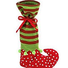 1db karácsonyi manó csomagtartó zokni candy táska Mikulás édességet ajándékcsomagot karácsonyi kellékek