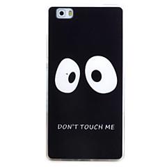 Til huawei p9 p8 lite case cover øjenmønster tpu materiale telefon shell til y5c y6 y625 y635 5x 4x g8
