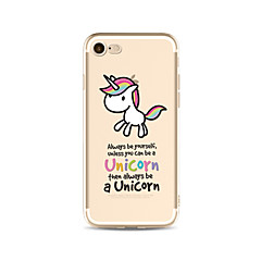 Pentru Translucid / Model Maska Carcasă Spate Maska Animal Moale TPU AppleiPhone 7 Plus / iPhone 7 / iPhone 6s Plus/6 Plus / iPhone 6s/6