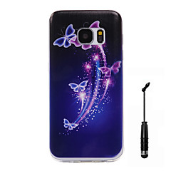 For Samsung Galaxy S7 S7 Edge Case Cover Butterfly Pattern Super Soft Painting TPU Material Phone CaseTouch Screen Pen