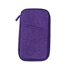 Travel Bag Passport Holder & ID Holder Passport Cover Passport Wallet Sealed for Women's Travel Storage Polyester-Gray Purple Rose Green